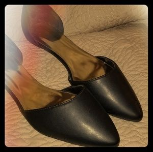 New Black Pointed Toe Flats